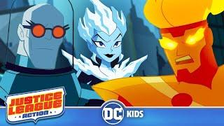 Justice League Action | Fire & Ice | DC Kids