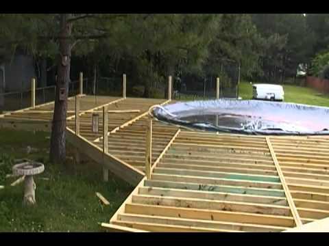 above ground pool deck 2 youtube. Black Bedroom Furniture Sets. Home Design Ideas