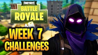 Fortnite WEEK 7 CHALLENGES GUIDE!-SOCCER PITCH LOCATIONS!,Treasure MAP LOCATION!