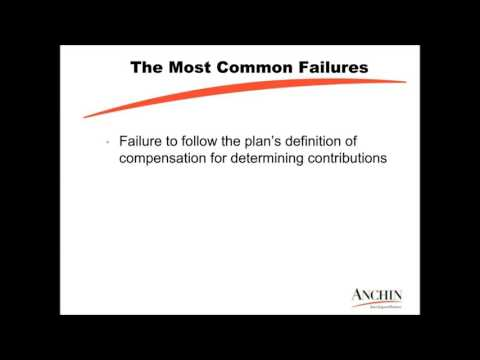 The Most Common Employee Benefit Plan Failure from Anchin's Webinar