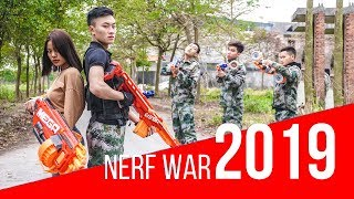 Nerf War: Elite Commando 😡 Sniper Girl Nerf Guns The Expendables Pretend Nerf Movie