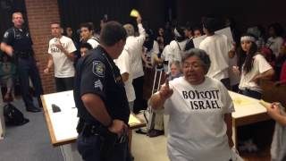 Anti-Israel protesters escorted from Ann Arbor city hall by police