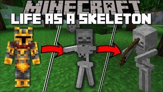 Minecraft LIFE OF A SKELETON MOD / FIGHT OFF VILLAGERS AS A SKELETON!! Minecraft