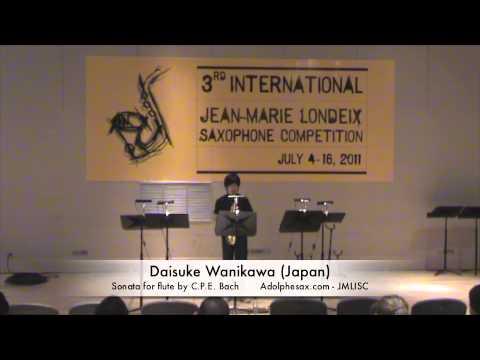 3rd JMLISC: Daisuke Wanikawa (Japan) Sonata for flute by C.P.E. Bach