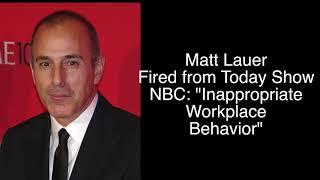 NBC Statement On Firing Of Matt Lauer