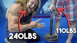 110LB ROCK CLIMBER GRIPS MORE THAN ME