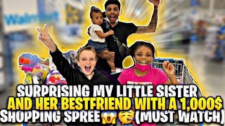 SUPRISING MY LITTLE SISTER & HER BSF WITH A $1,000 DOLLAR SHOPPING SPREE 😱🥳 (Must Watch‼️)