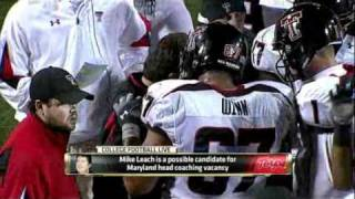 Maryland fires Ralph Friedgen, bringing Mike Leach to Maryland - ESPN
