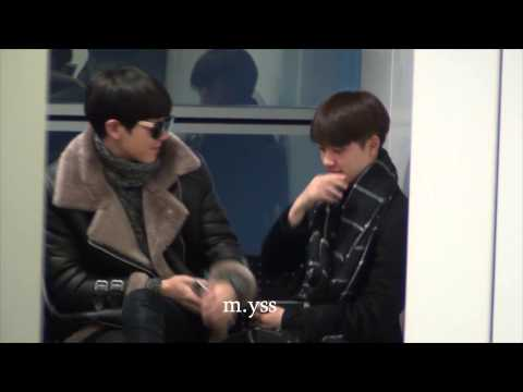 [m.yss] MAMA2014 - Soo&Chan + Soo&Lay at HK airport 12022014