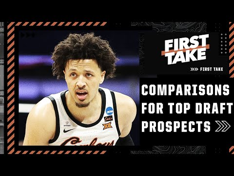 NBA comparisons for Cade Cunningham, Jalen Green, Scottie Barnes and James Bouknight | First Take