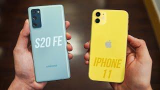 Samsung Galaxy S20 FE vs iPhone 11 - Clean Sweep!