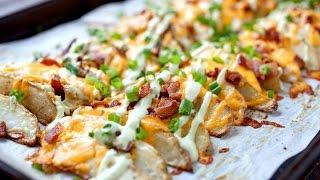 Loaded Potato Wedges Recipe