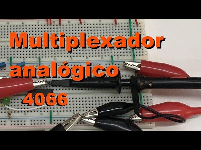 MULTIPLEXADOR ANALÓGICO COM 4066 | Conheça Eletrônica! #066