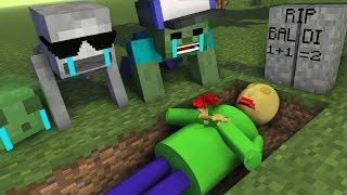 Monster School : RIP BALDI'S - Minecraft Animation