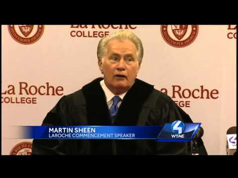 Actor Martin Sheen Speaks At LaRoche College - Smashpipe News