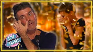 GOLDEN BUZZER   POWERFUL Original Song Makes Simon Cowell Cry On AGT 2021!   Top Talent