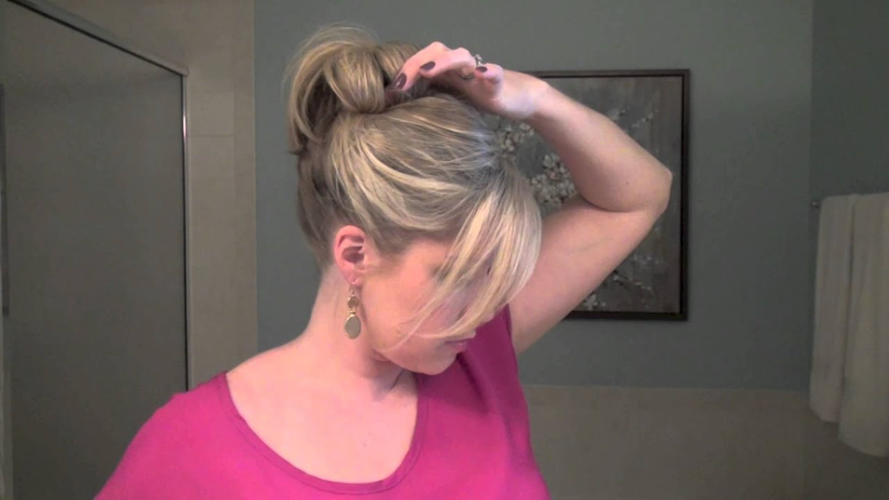 hair style of bun how to make a fancy bun real simple 6565