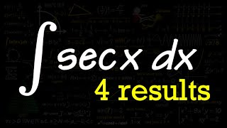 integral of sec(x), 4 results!