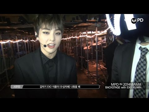 [MPD in 2014MAMA] 141203 BACKSTAGE with EXO XIUMIN 시우민