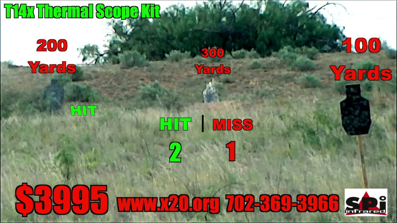 T14x Thermal Scope Review At 300 Yards Shooting Gallery ...