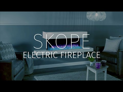 Undulating flame visuals, dancing impossibly amongst a deep bed of realistic logs or shining crystals, make Regency Skope one of the most captivating electric fires ever created.