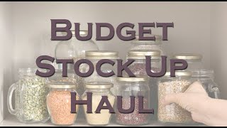Budget Prepper Pantry Stock Up Haul ~ Dollar Tree & Walmart