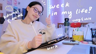 a cozy & chill week in my life: kdramas, anime, what i've been up to lately