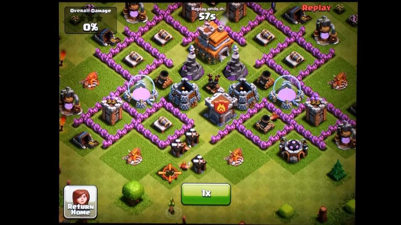 Clash Of Clans Town Hall Level 7 Funnel Defense Mortar - Www