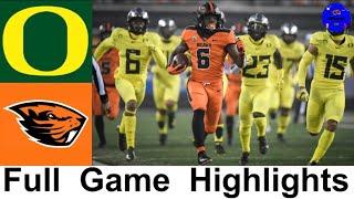 #15 Oregon vs Oregon State Highlights | College Football Week 13 | 2020 College Football Highlights