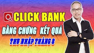 Bằng chứng thu nhập kết quả Clickbank tháng 8 - Son Piaz dạy kiếm tiền Online