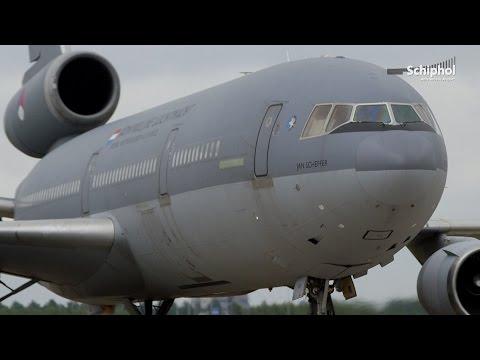 Royal Netherlands Air Force KDC-10s land at Schiphol