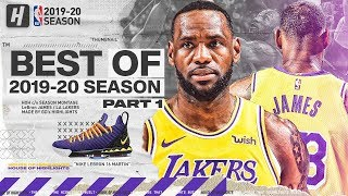 LeBron James BEST Lakers Highlights from 2019-20 NBA Season! EPIC Beast Mode! (Part 1)