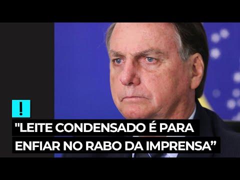 Vídeo Bolsonaro sobre compra de leite condensado: 'Enfiar no rabo da imprensa'; veja o vídeo