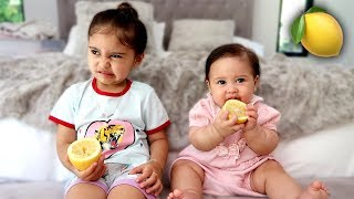 BABY VS LEMON!!! **WHOEVER MAKES A FACE FIRST LOSES**