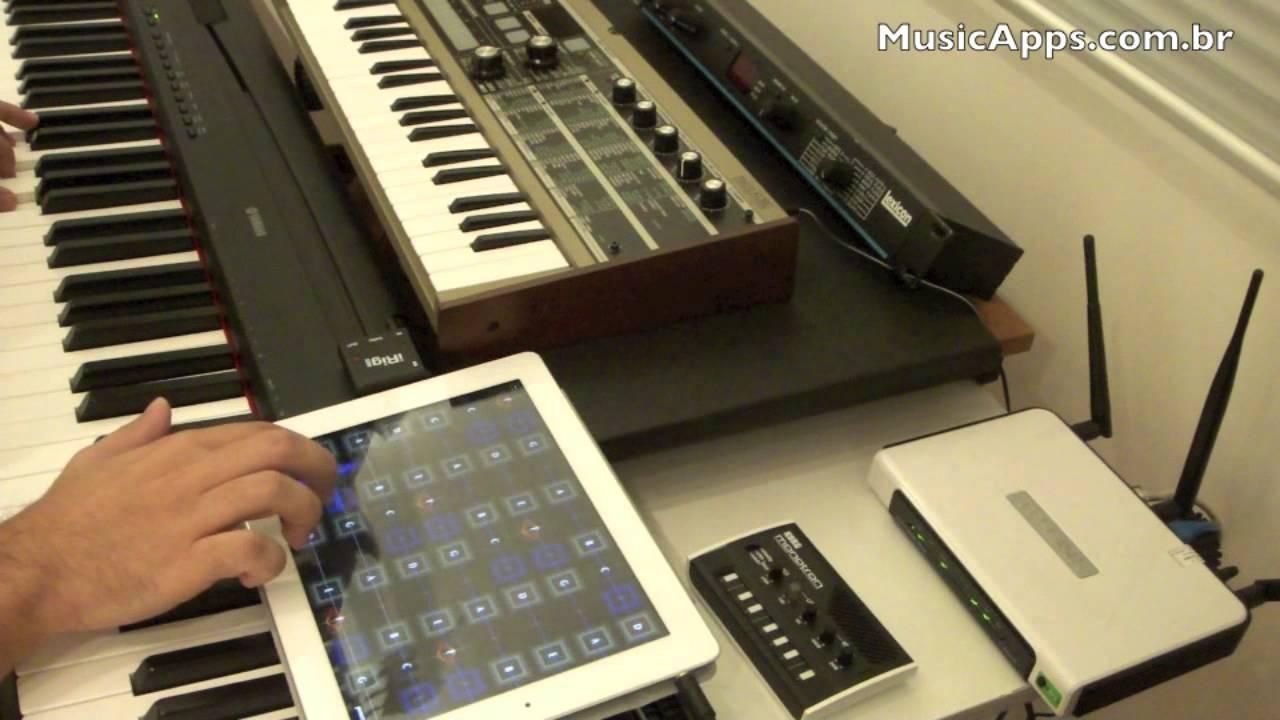 ipad jam garageband geo synthesizer irig midi e yamaha p95 youtube. Black Bedroom Furniture Sets. Home Design Ideas