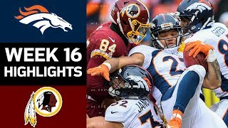 Broncos vs. Redskins | NFL Week 16 Game Highlights