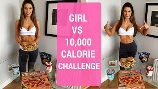 10,000 Calorie Challenge   Girl VS Food   EPIC CHEAT DAY