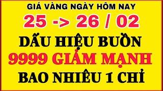 Giá vàng hôm nay 9999 (MỚI) 25/2 | VÀNG 9999 LAO DỐC || Bảng Giá Vàng SJC 9999 24K 18K 14K 10K