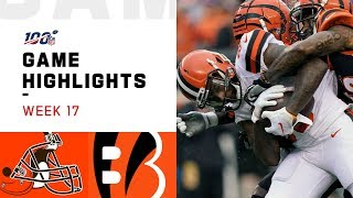 Browns vs. Bengals Week 17 Highlights | NFL 2019