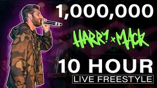 Harry Mack Freestyles FOR 10 HOURS to Celebrate 1,000,000 Subscribers