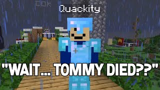 Quackity reacts to TommyInnit DEATH on DreamSMP
