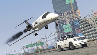 GTA 5 EXTREME AIRPLANE CRASHES AND LANDINGS COMPILATION!!!