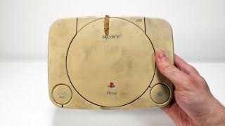 I Restored This  Yellowed & Broken PSone - Retro Playstation Console Restoration