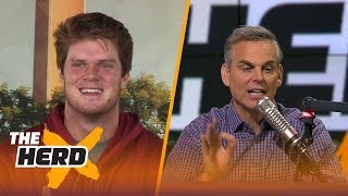 Sam Darnold talks 2017 USC Trojans, hair product and more with Colin | THE HERD