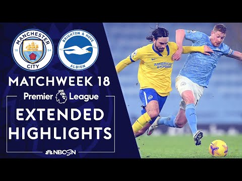 Manchester City v. Brighton | PREMIER LEAGUE HIGHLIGHTS | 1/13/2021 | NBC Sports