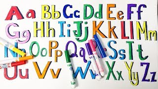 Learning ABC Letter Alphabets and Colors with CRAYOLA COLOR MARKERS