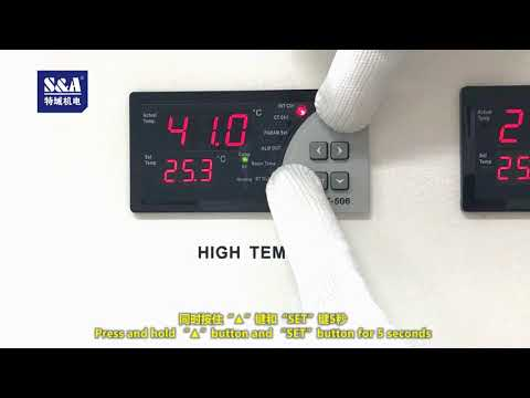 Tutorial on Setting Water Temperature for T-506 (High Temp.) of S&A CWFL Series Water Chiller