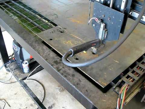 Home Built Cnc Plasma Table Mach3 Youtube