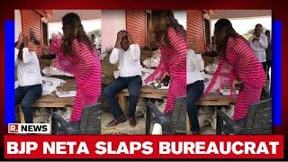 Watch: Tiktok star Sonali Phogat thrashes govt official wi..