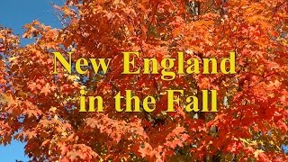 A Tour Around New England to View the Fall Colors ( Autumn Colour)